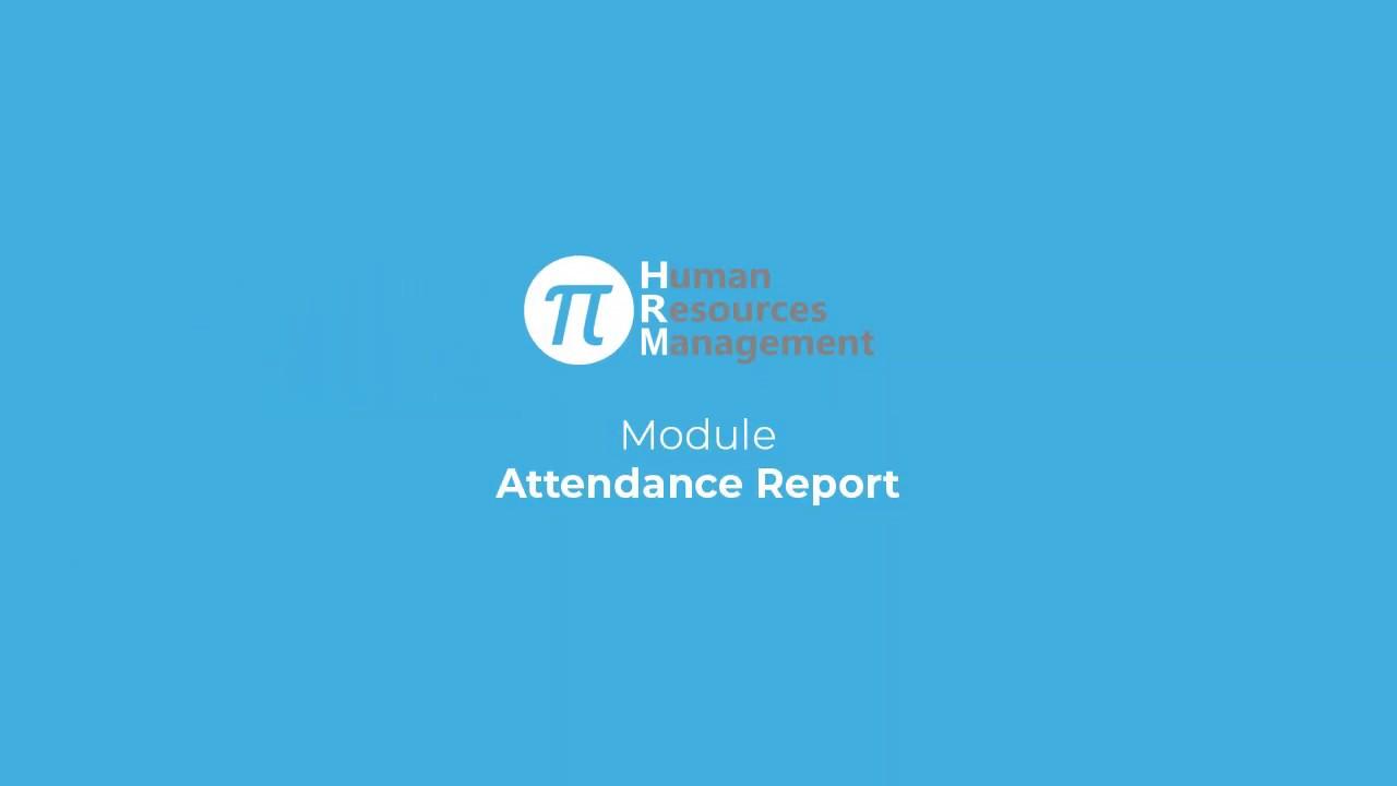 Attendance Report | Pi-HR | Vivasoft Limited