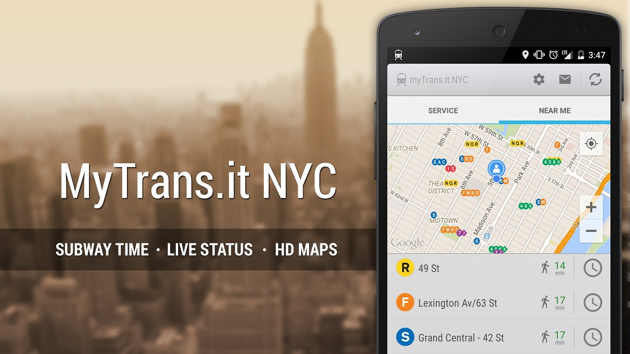 MyTransit NYC For Android App Video Trailer YouTube - Nyc map app android