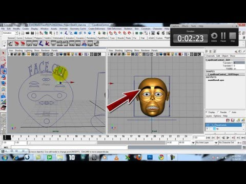 Facial Rig with GUI done with MEL mp4 - YouTube