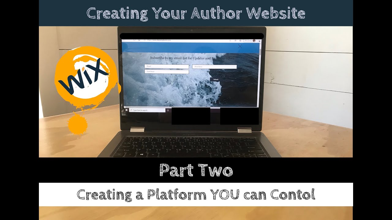 Vlog Episode 9: Creating your Author Website Part Two