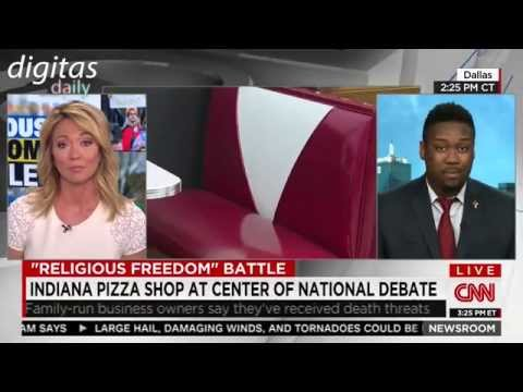Lawrence Jones on CNN regarding the #MemoriesPizza GoFundMe campaign
