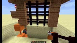 Minecraft - Brána s padací mříží 3x3 TUTORIAL