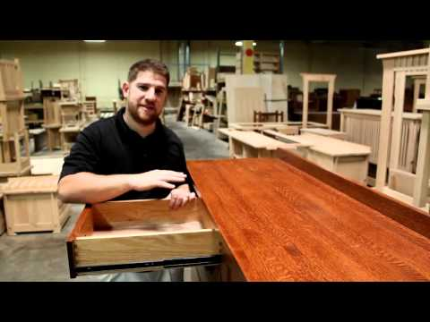 Mission Style Oak Bedroom Furniture Made in the USA Solid Oak Heirloom Furniture
