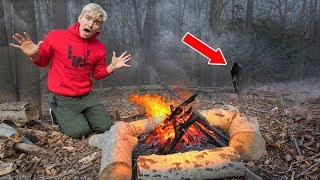 SURVIVING THE ABANDONED FOREST!! (HAUNTED)