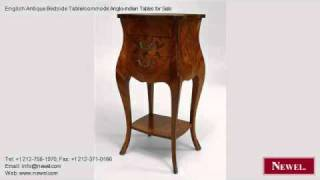 English Antique Bedside Table/commode Anglo-Indian Tables