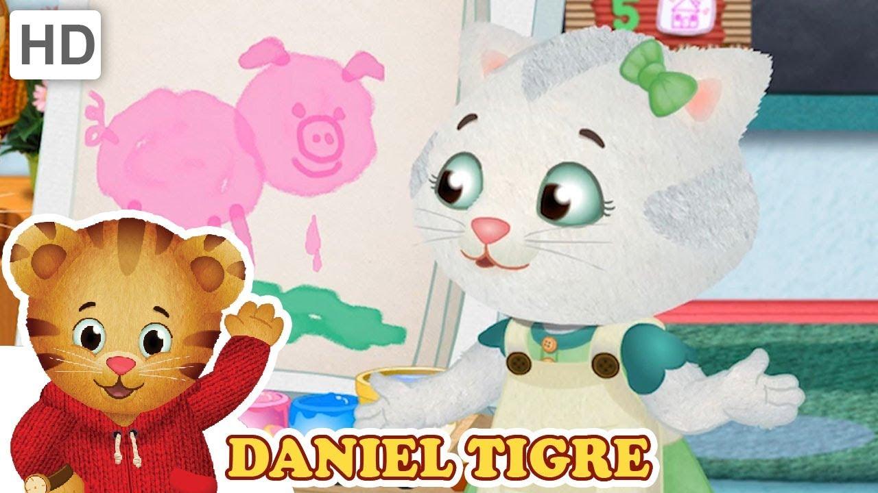 Daniel Tigre Em Portugues Como Pintar E Desenhar Youtube
