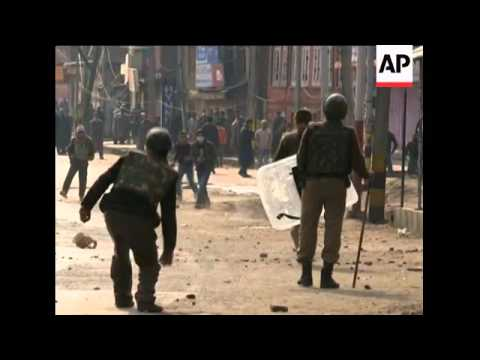 Protesters clash with police for second day