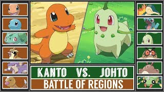 Basic Region Battle: KANTO vs JOHTO (Pokémon Sun/Moon)