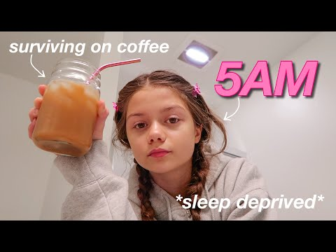 waking up at 5AM everyday for a week... *online school* - Erika Diane