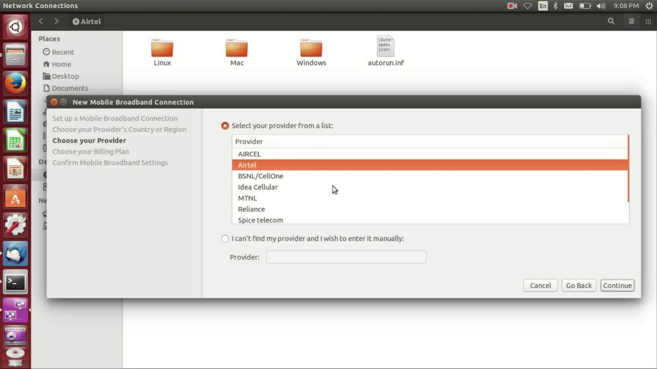 Install Airtel 4G Dongle In Ubuntu 14 04 - YouTube
