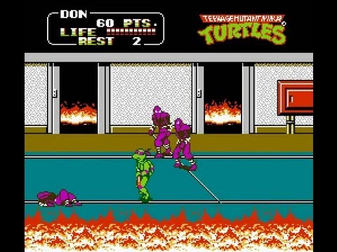 Image result for TMNT II nes youtube