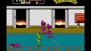 NES Longplay [369] Teenage Mutant Ninja Turtles II The Arcade Game (a)