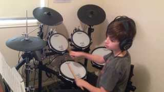 Gorillaz - Feel Good Inc Drum Cover by 11 Year Old Drummer