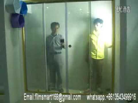 Smart Glass Smart Film Automatic Shower Door Automatic Doors Youtube
