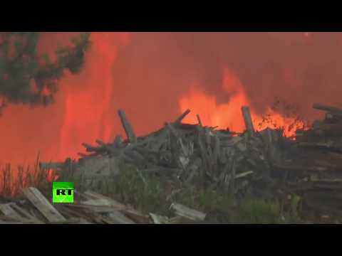 RAW: Wildfires sweep through Portugal as country endures severe drought
