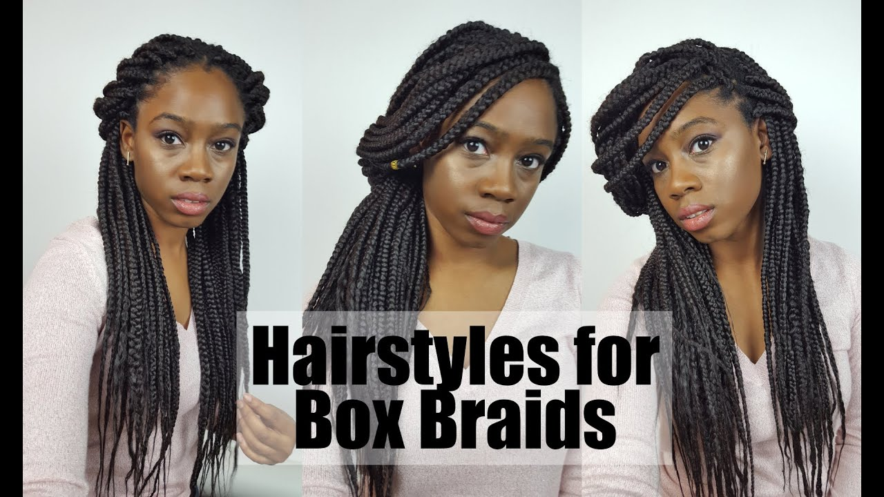 6 Easy Cute Hairstyles For Box Braids Youtube