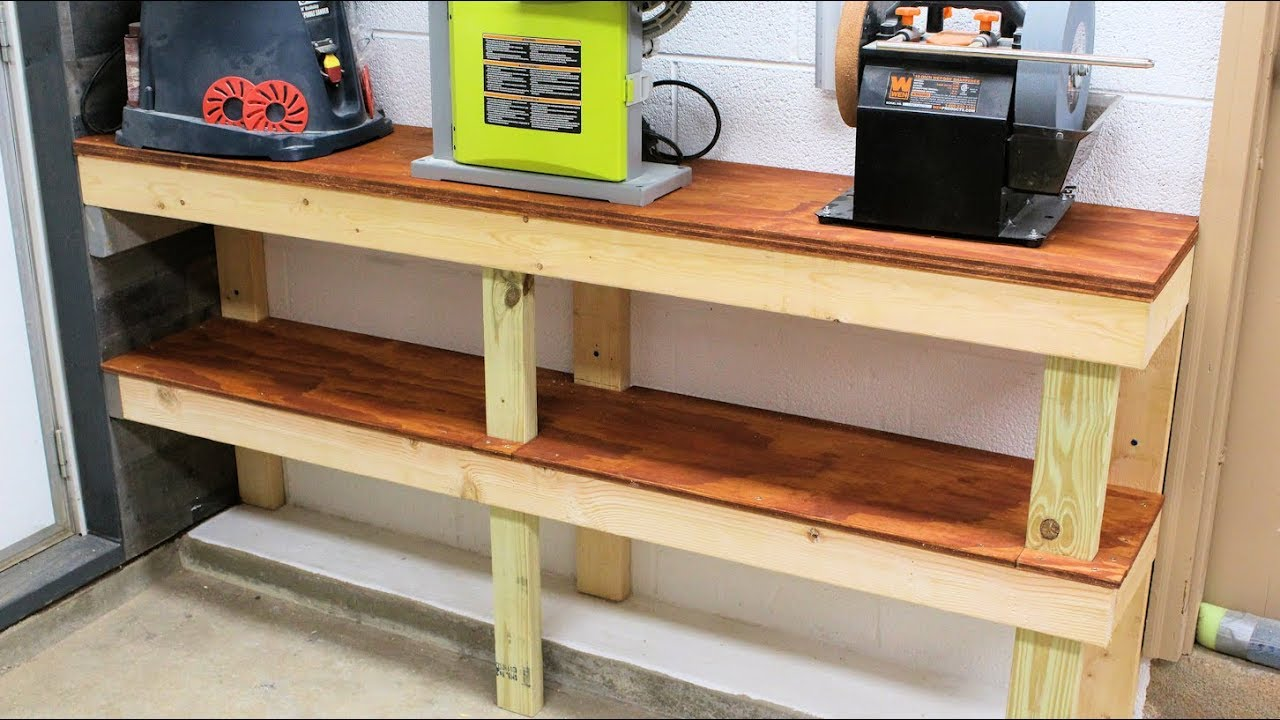 Narrow Workbench For Small Garage Or Workshop