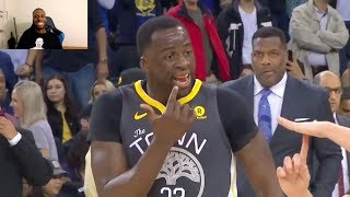 WESTBROOK HITS DRAYMOND GREEN IN THE FACE AND MAKES HIM BLEED BUT GREEN GETS A TECHNICAL FOUL! WTF!?