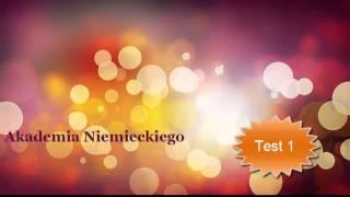 Akademia Niemieckiego Kurs podstawowy Test 1