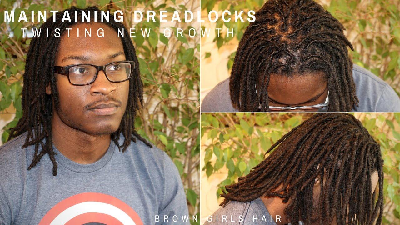 Maintaining Dreadlocks | Twisting New Growth | for Men