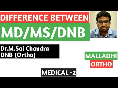 Difference between DNB n MD/MS