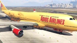 GTA 5 - 18 cenas AUDACIOSAS E DESTRUIDORAS com aviões - Parte 2 ( versão normal SEM ZOEIRAS )