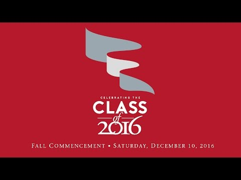 Fall 2016 Commencement