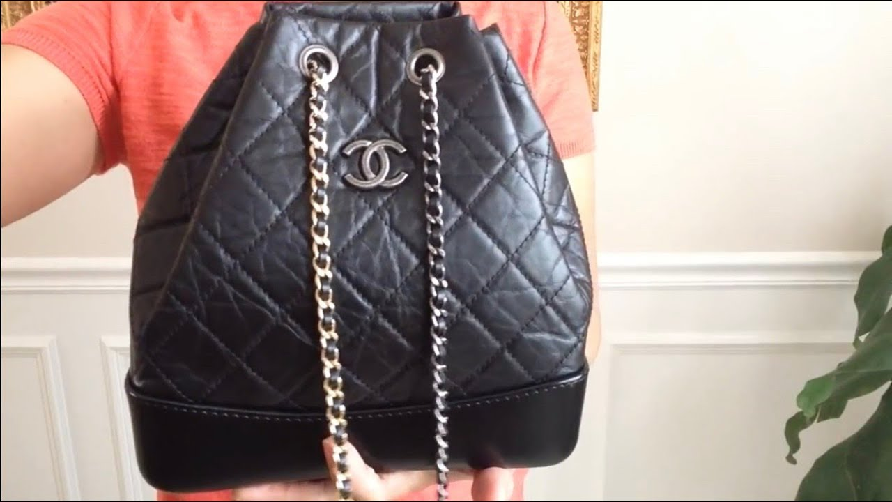 b973e87ca8a6b3 Chanel GABRIELLE backpack 6 ways to carry - YouTube