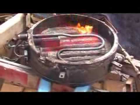 Stanley Steamer Car >> 1900 Locomobile steam car burner test 3 - YouTube