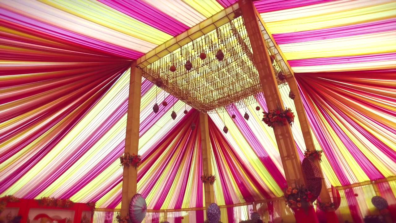 Indian traditional wedding decor youtube Home decoration lights online india