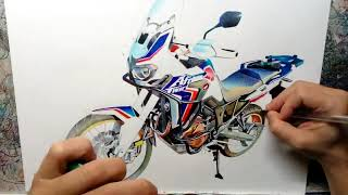 Drawing the Honda Africa Twin