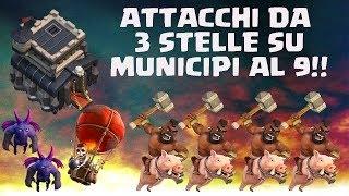 TUTTE LE STRATEGIE PER TRISTELLARE TH9 - Clash of clans Ita