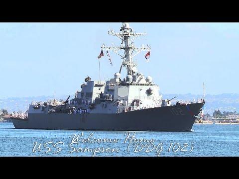 USS Sampson (DDG-102) Returns From Deployment