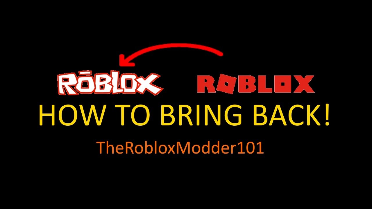 Roblox How To Bring Old Roblox Logo Back Works Easy And Safe