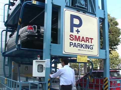 Garage Parking Stop >> Smart Parking in action korea - YouTube