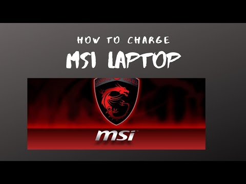 Quick Easy FREE Fix On Charging Your MSI Laptop !!