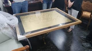 순금 가루로 오일을 섞어 만든 금 돼지 그림 인터넷에서…