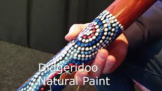 DIDGERIDOO NATURAL PAINT: didgeridoo + cera vergine + borsa de didgeridoo Video