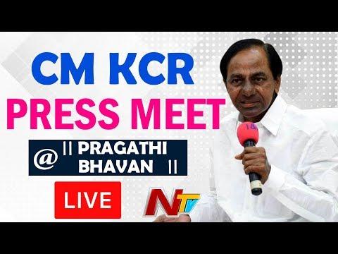 KCR Press Meet LIVE @ Pragathi Bhavan, Hyderabad || Telangana || TRS || NTV