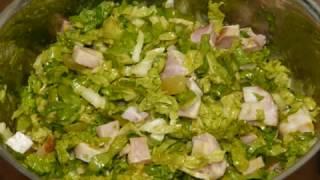 Легкий салат быстрого приготовления с оригинальной заправкой👍 Салаты на праздничный стол