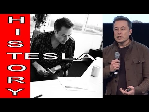 Elon Musk Explains Tesla Motors Electric Vehicle History