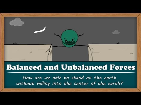 Balanced and Unbalanced Forces -  Why don't we fall into the center of the earth?