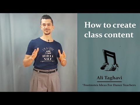 How to create class content for dancers
