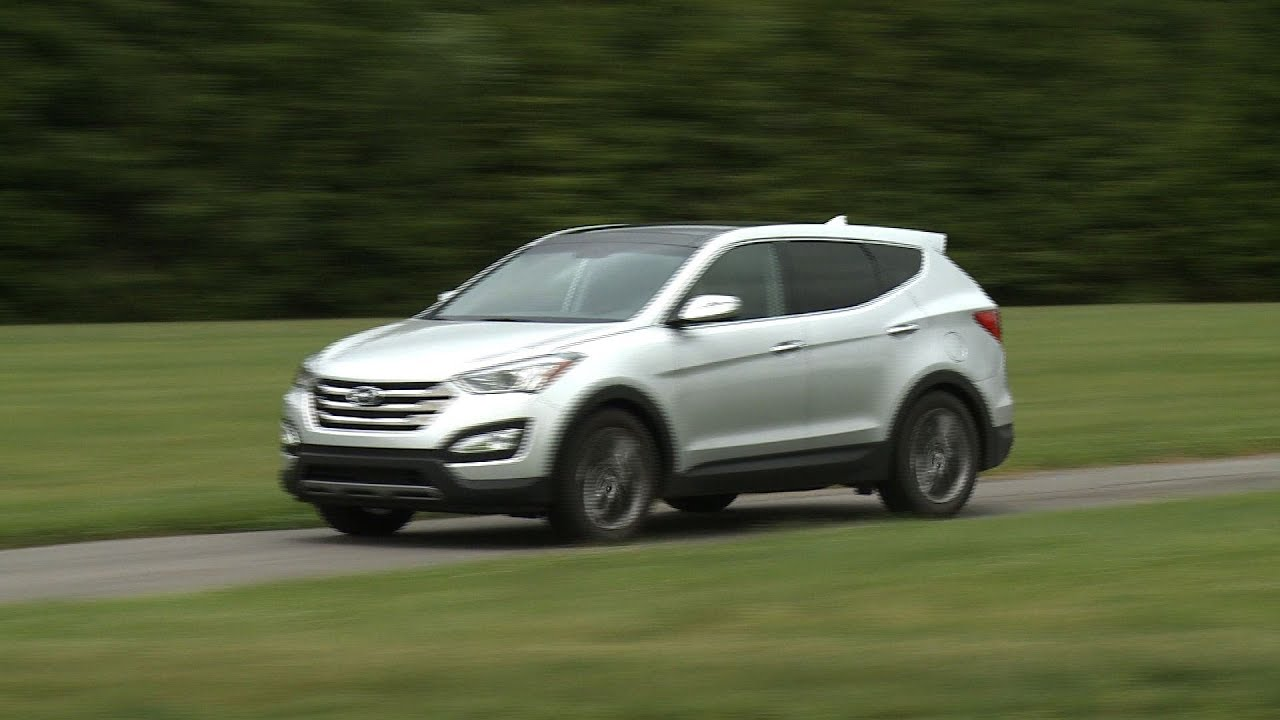 2013 hyundai santa fe sport first drive updated consumer reports youtube. Black Bedroom Furniture Sets. Home Design Ideas
