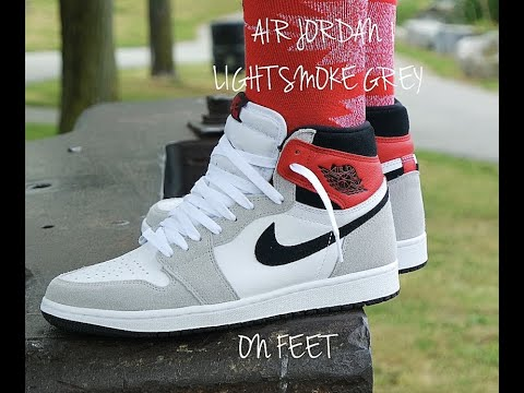 Air Jordan 1 Light Smoke Grey Review On Feet These Are Youtube