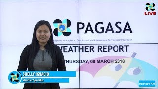 Public Weather Forecast Issued at 4:00 AM March 08, 2018