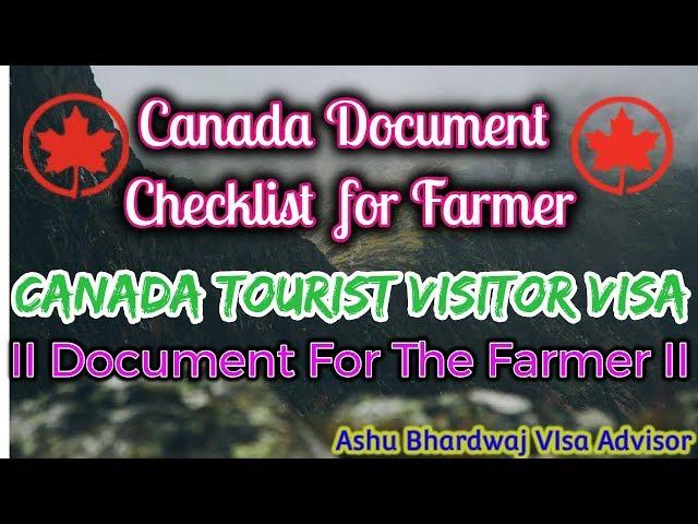 Canada tourist visitor visa  Full documentation information