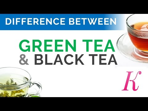 Benefits of Green Tea and Black Tea   Difference Between Green Tea and Black Tea