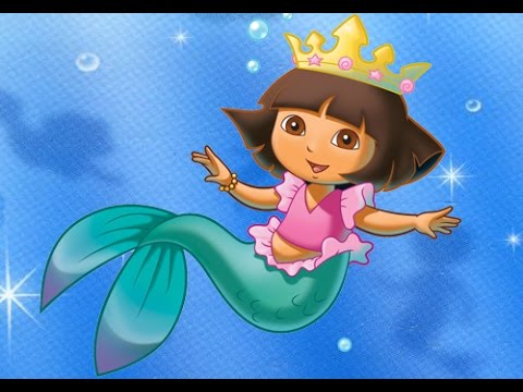 Dora Mermaid Adventure Cartoon Games - YouTube