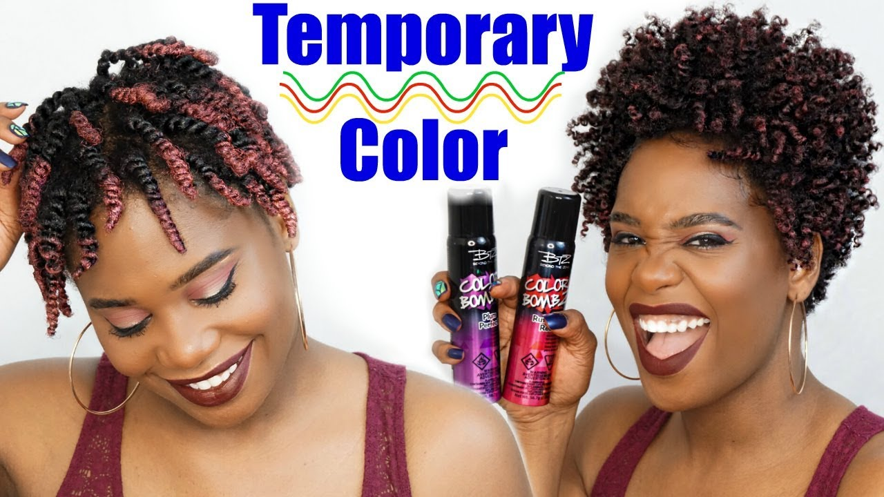 How To Apply Temporary Hair Color Spray Misskenk Youtube